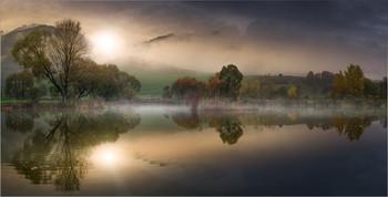 / Morgens an einen kleinen Teich in der Steiermark
