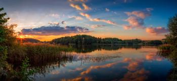 Багровый закат / Пейзаж Беларуси