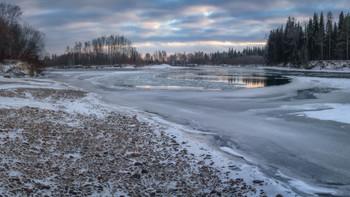 ЛЕДЯНАЯ КАРУСЕЛЬ / ледостав на реке