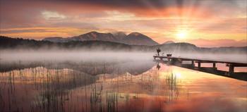 Der Fotograf am Turnersee / Morgens an einen kleinen See in Kärnten.
