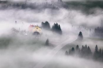 В объятиях тумана / Карпаты