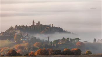 Утро туманное / Тосканский пейзаж