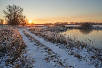 Морозным утром. / мороз, утро,озеро