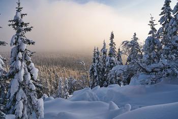 / зима,туман,горы
