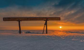/ Финскиий залив снег Природа зима