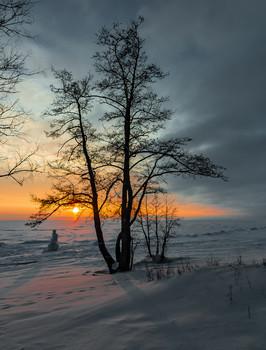 / Финский залив, Репино,зима
