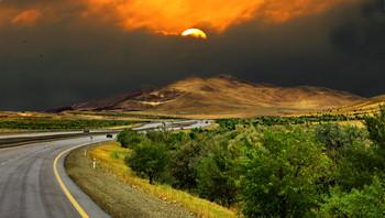 Перед закатом / Снимок сделан в Шемахинском районе Азербайджана