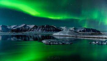 Ловцы Северного сияния / Панорама Ледяной Лагуны, Исландия
