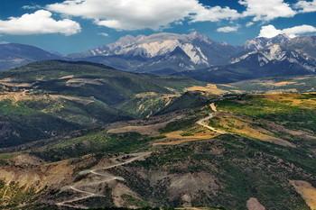 Горный серпантин / Перевал Муганлы.Азербайджан