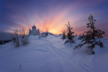 Дорога к храму.. / Белогорский монастырь.Пермский край.