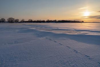 / зима,февраль,закат,река