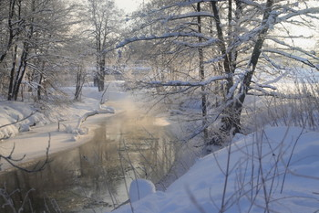 Солнечное утро / Солнце и снег