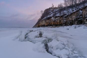 / горы, река, лед