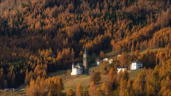 Оранжевая долина / Доломитовые Альпы, провинция Беллуно.