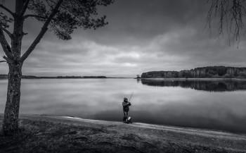 Вечер на реке Свислочь / Беларусь. Заславское водохранилище.
