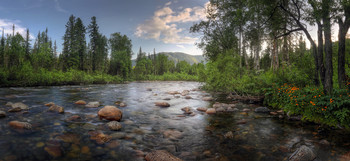 На Малом Казыре / Сибирь, республика Хакасия, река Малый Казыр
