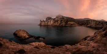 Ди-Лиман на рассвете / Бухта Ди-Лиман, Новый Свет, Крым