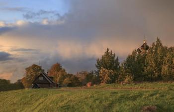 Вечернее небо. / Приграничная территория с Эстонией.