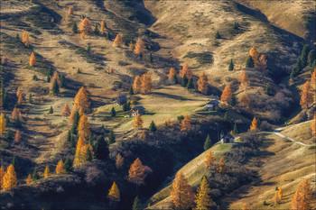 """""""Золото осени"""" / Перевал Giau Доломиты Италия."""