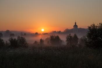 Утро жаркого дня / утро, туман, Фрязино, Гребнево