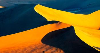 Краски Намиба / Пустыня Намиб, аэросъемка на закате