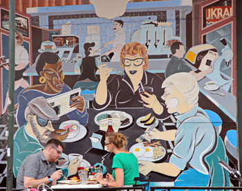 Манхэттен. Уличное кафе. / ***