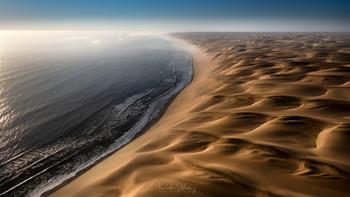 Пустынные берега / Берег Скелетов. Аэросъемка