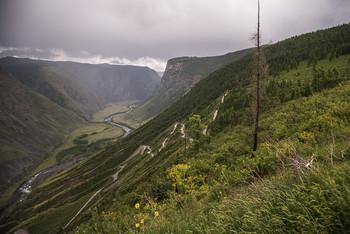 Кату-Ярык / Спуск в долину р.Чулышман