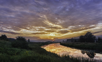 Рассветное зарево.. / 19.06.2018. річка Остер, село Бірки