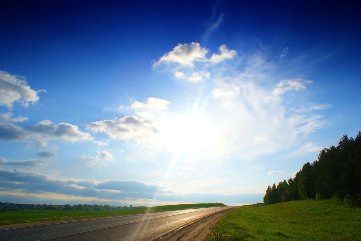 дорога и небо фото многоцветная