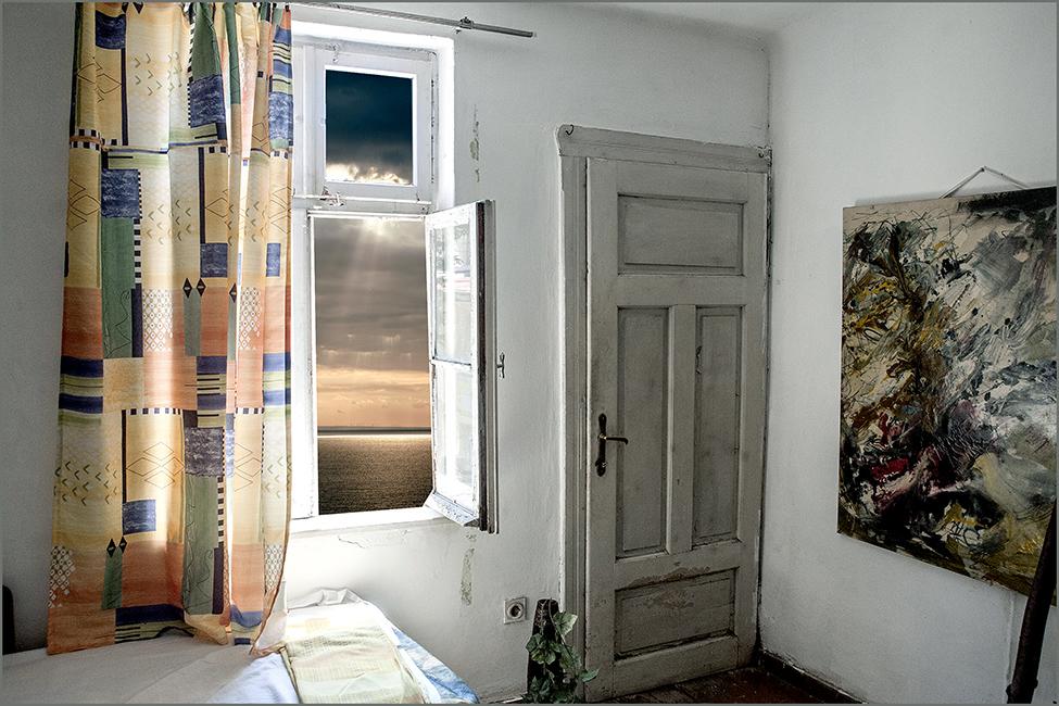 состаренная дверь