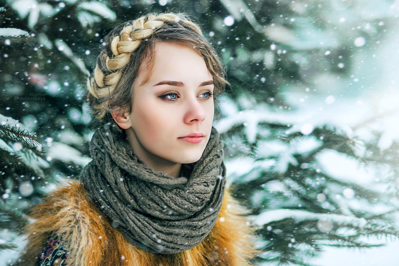художественная обработка зимней фотографии бумажный