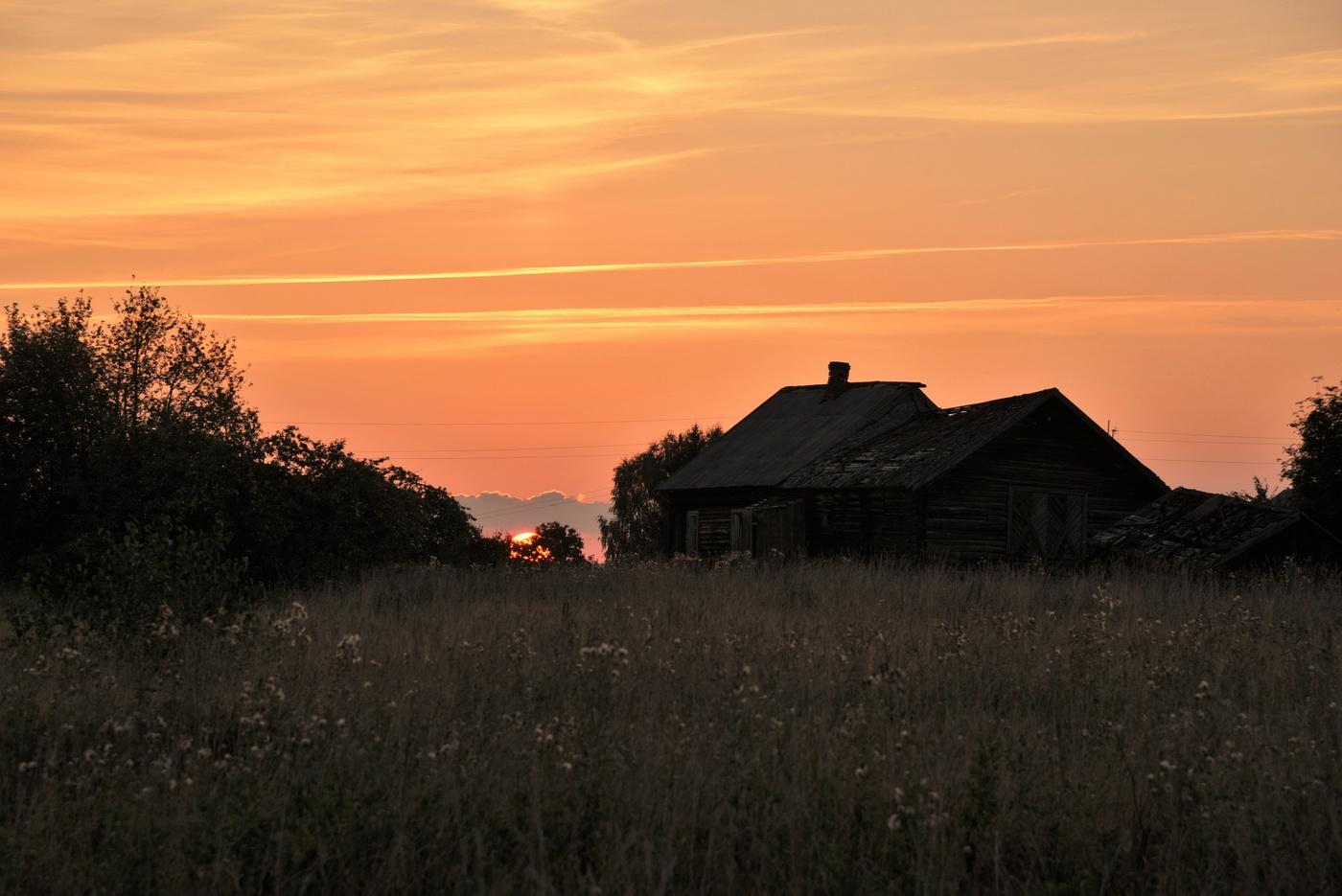 Картинки лето вечер деревня дает