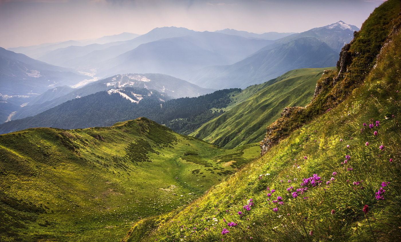 красная поляна горы картинка