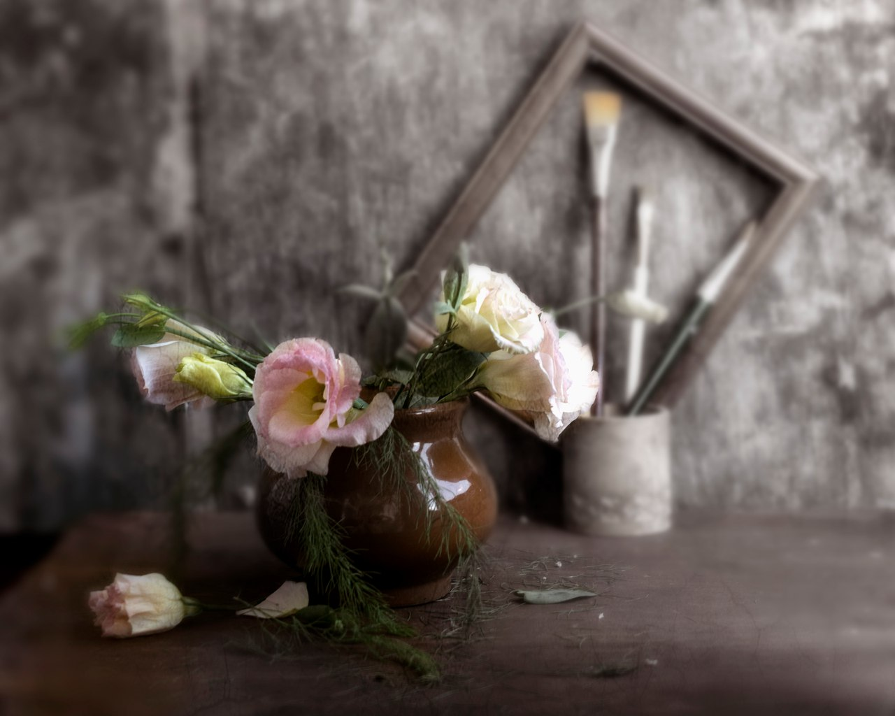 одной, художественное фото цветка потолки