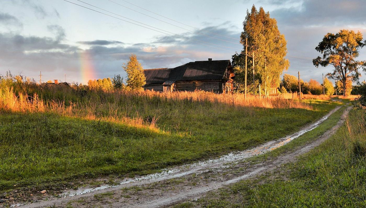 фотографии дождливая осень в деревне же