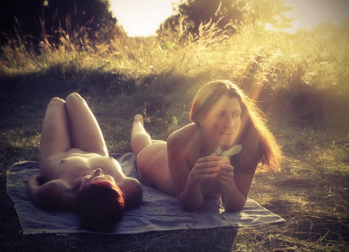 Фото секс в лучах заката